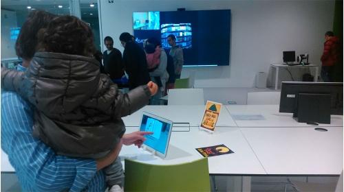 Visita al  Laboratori de vivències a la biblioteca: el Library Living Lab de Volpelleres, Sant Cugat.