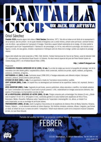 Aquest mes, Oriol Sánchez