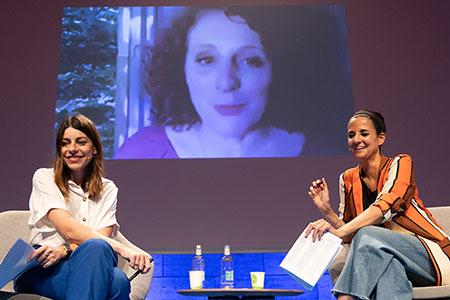 Maggie O'Farrell, Gemma Ruiz Palà, and Begoña Gómez Urzaiz