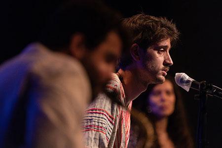 Oriol Sauleda, Marcel·lí Bayer and Alexandra Garzón