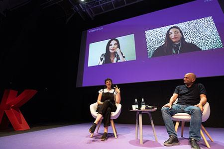 Verónica Gerber Bicecci, Giovanna Rivero, Fernanda Trías, and Jorge Carrión