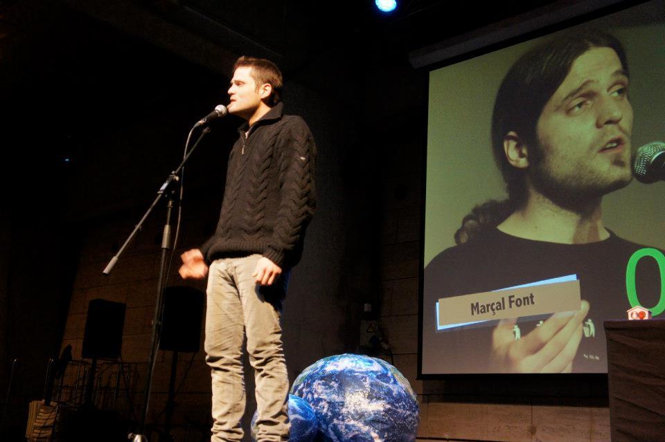 Marçal Font al Poetry Slam Barcelona