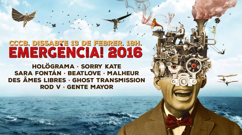 Cartel del Emergència! 2016, obra del ilustrador Miguel Brieva