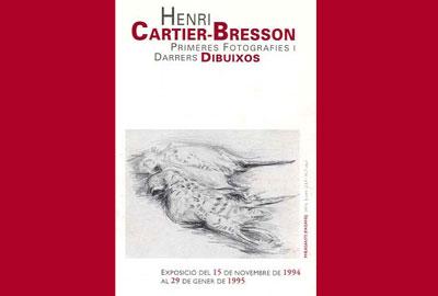 Imatge de l'exposició: Henri Cartier-Bresson. Primeres fotografies i darrers dibuixos