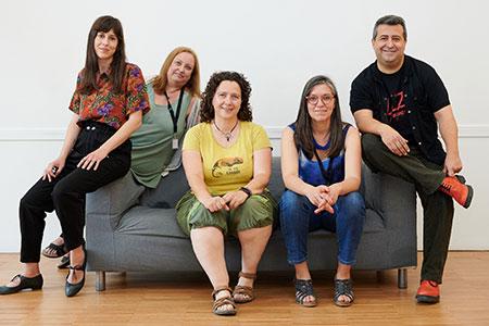 Elisenda Solsona, Elena Bartomeu, Cristina Xifra, Elena Polanco i Ricard Ruiz Garzón