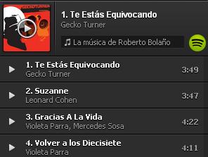 Roberto Bolaño's music