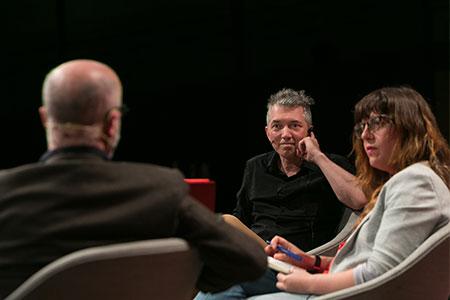 Simon Roy, Rodrigo Fresán i Laura Fernández