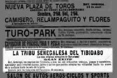 Negro towns, human zoos