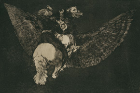 Francisco de Goya. Disparate volante, 1815-24