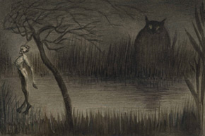 Alfred Kubin. The Pond – Der Tuempel, c. 1905