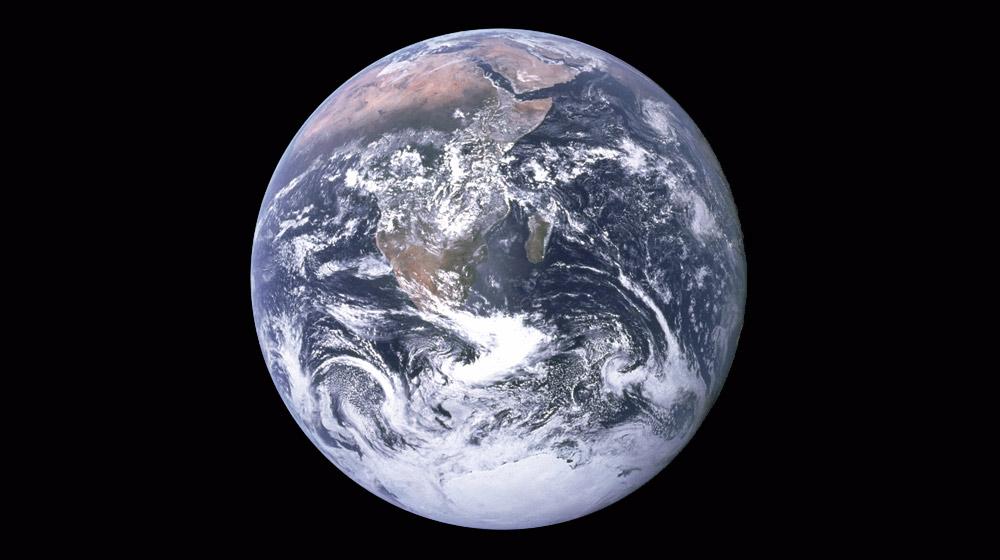 La terra vista des de la nau Apolo 17, 1972 - Domini Públic