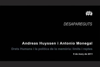 Lecture by Andreas Huyssen: �Human Rights and the Politics of Memory: Limits and Challenges�