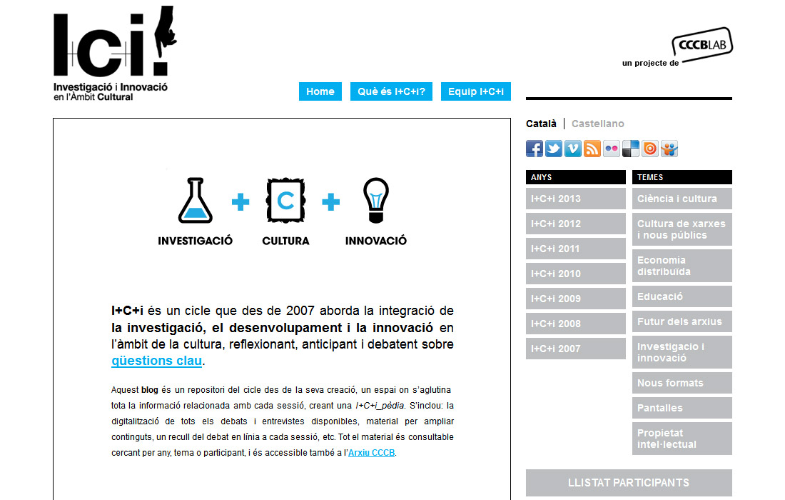 I+C+i. Investigació i innovació en l'àmbit cultural