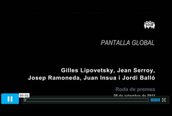 Press conference presentation virtual plataform Pantalla Global