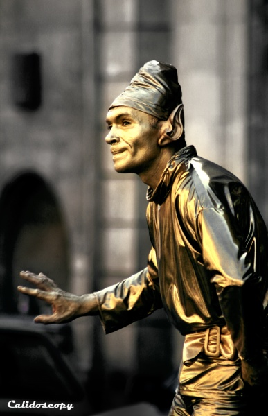 estatua humana barcelona rambla