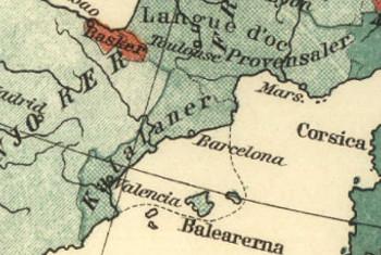 Mapa de les llengues d'Europa, 1907