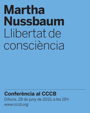 Martha Nussbaum. Llibertat de consciència.