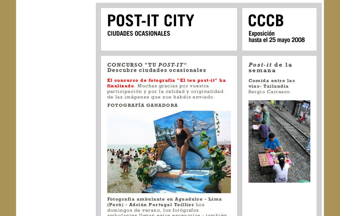 Post-it city. Ciutadades ocasionales