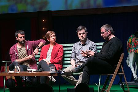 Mark Bray, Jordi Borràs, Helena Castellà Duran i Carles Viñas: «Antifeixista»