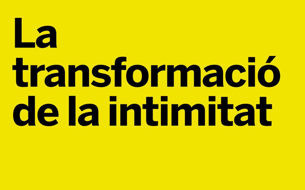 Imagen de la actividad: La transformación de la intimidad