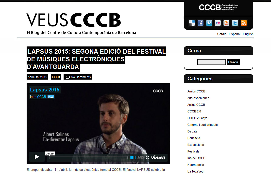 Blog Veus CCCB