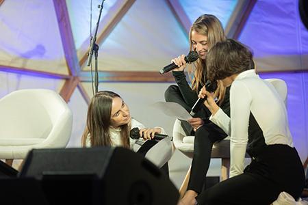Maria Arnal, María Sánchez e Irene Solà
