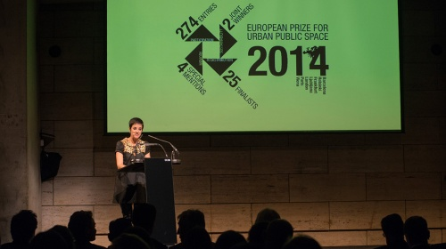 Awards ceremony of the 2014 European Prize for Urban Public Space winners