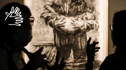 «William Kentridge» in sign language