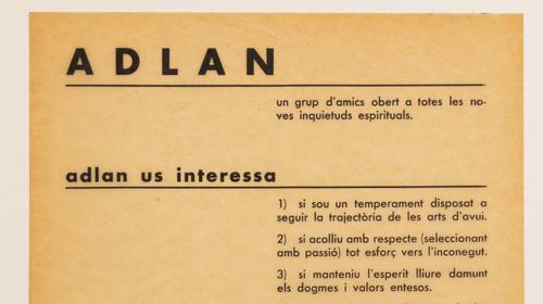 Miró-ADLAN. Un archivo de la modernidad (1932-1936)