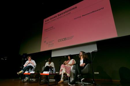 Parvati Nair, Maggie O'Neill, Bombo Ndir, Joice Ortuño y Deepti Golani