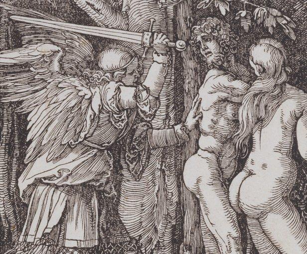"Albrecht Dürer, ""L'expulsió del paradís"" (1510)"