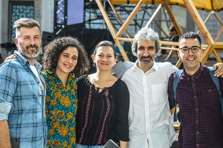 Jordi Armadans, Blanca Garcés, Nour Salameh y Riccardo Gatti