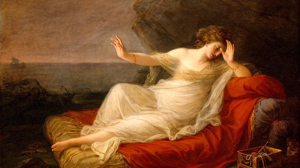 Ariadna abandonada per Teseu. Angelica Kauffmann, 1774