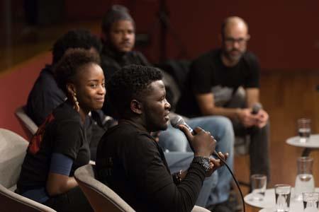 Stéphanie Bationo, Cheikh Fall, Brock Isaac Muhambya y Thiat