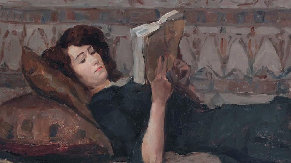 Dona llegint al sofà, Isaac Israels, c. 1880 - 1934