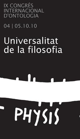 IX CONGRESO INTERNACIONAL DE ONTOLOGÍA. La filosofía como universal antropológico