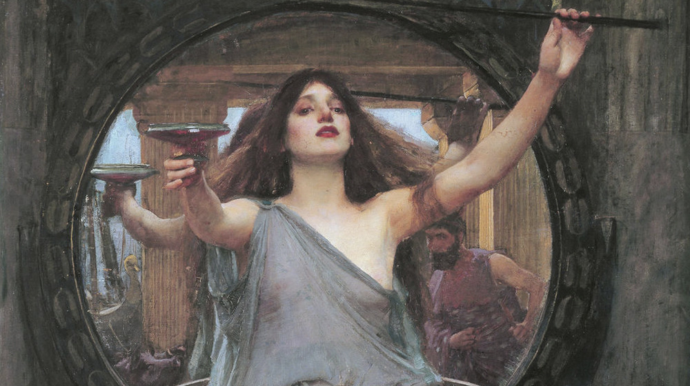 Circe oferint la copa a Ulisses, John William Waterhouse,1891