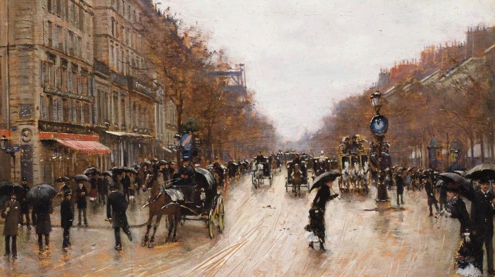 Scène de boulevard à Paris, de Jean Béraud, 1883