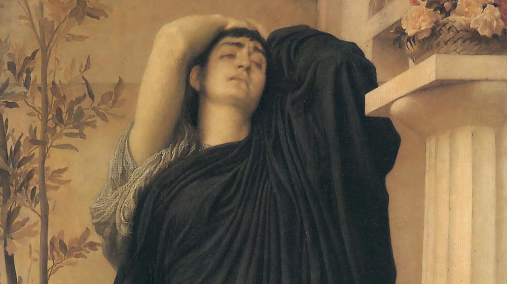 Electra en la tumba de Agamenón, Frederic Leighton, 1869