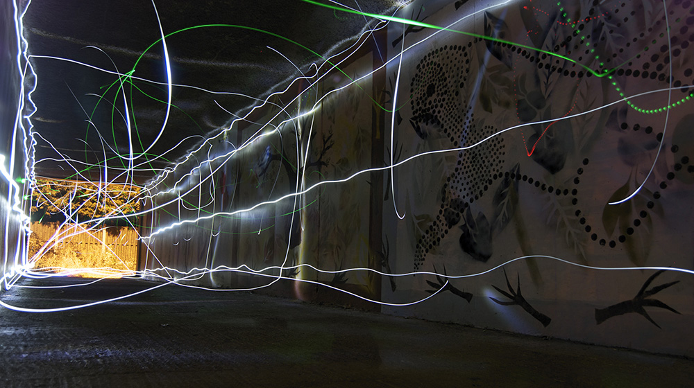 Flashlight Fight - Light Graffiti by artwork_rebel CC BY