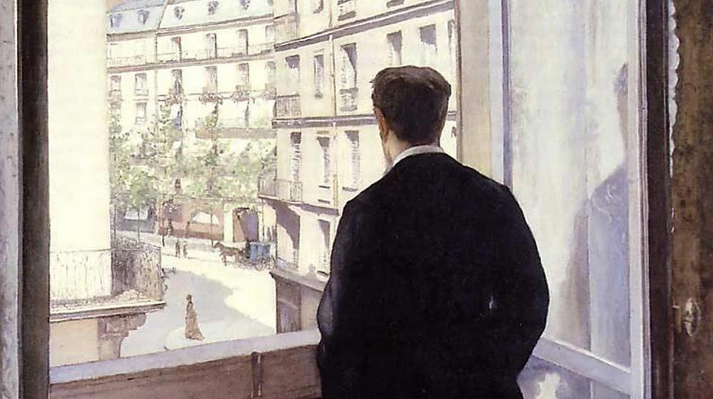 Joven en la ventana, Gustave Caillebotte, 1875