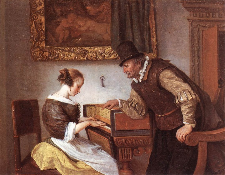 Jan Steen, Lliçó de música, 1660