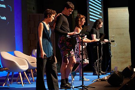 Inés Macpherson, Teresa López-Pellisa, Helen Torres, Pol Guasch i Francisco Jota-Pérez