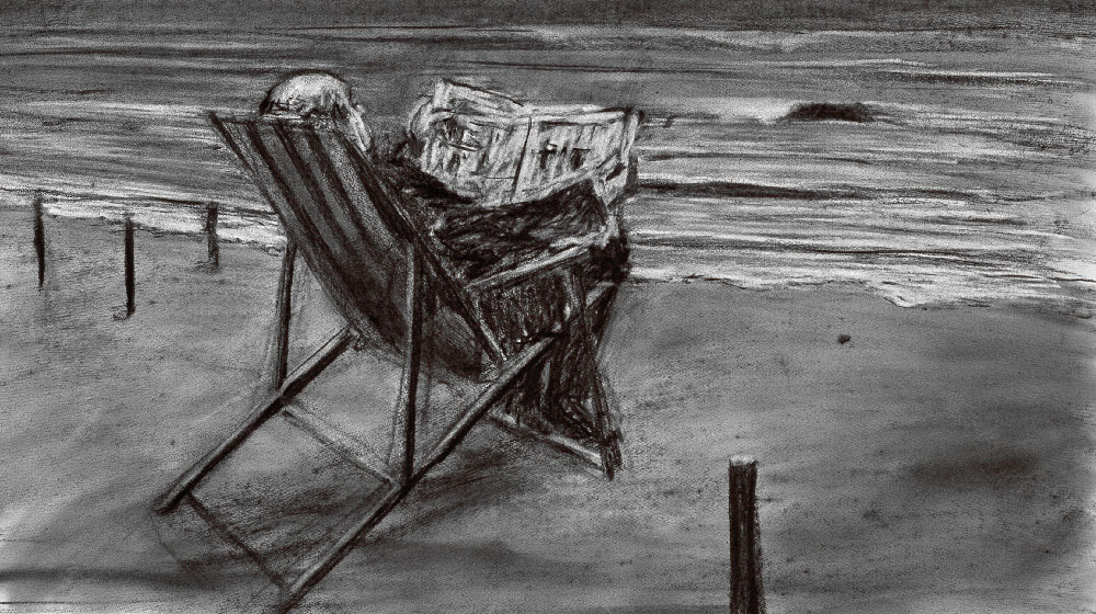 "William Kentridge ""Drawing for Tide Table"", 2011. Charcoal on paper. Courtesy of the artist."