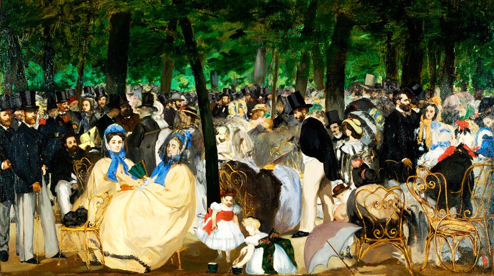 La música a les Teuleries. Manet, 1862