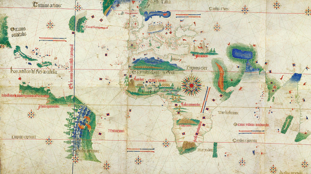 © Public Domain.  Cantino Planisphere