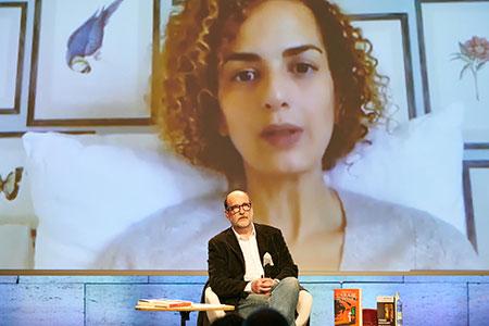 Leila Slimani y Emili Manzano