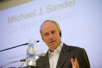 Michael Sandel at the CCCB. © Miquel Taverna
