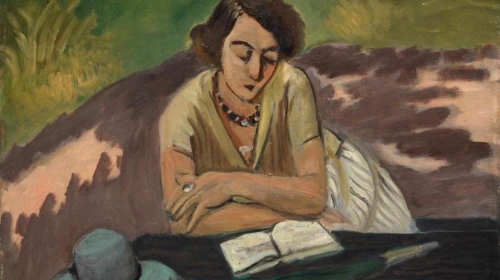 Liseuse à l'ombrelle, d'Henri Matisse, 1921
