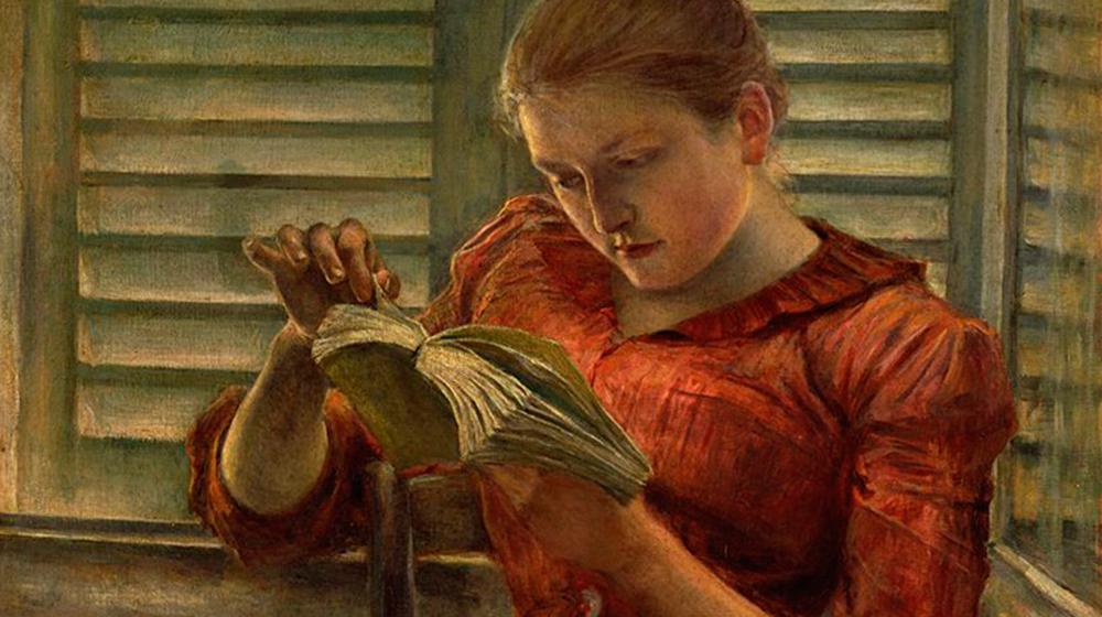 Kuroda Seiki, Dona llegint, 1890